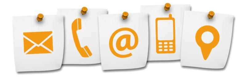 iconos de correo electronico, telefono, arobas, celular e ubicación