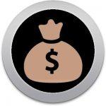 icono de una bolsa de dinero que representa que con el control de llaves ahorras dinero